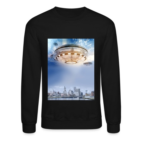 UFO Hoovering Earth - Crewneck Sweatshirt