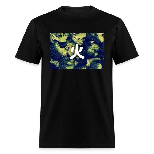 FIRE BROCCOLI BOX LOGO (GREEN) - Men's T-Shirt