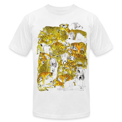 Wild cat orgy - Men's Fine Jersey T-Shirt