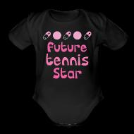 Baby Bodysuits ~ Baby Short Sleeve One Piece ~ Future Tennis Star