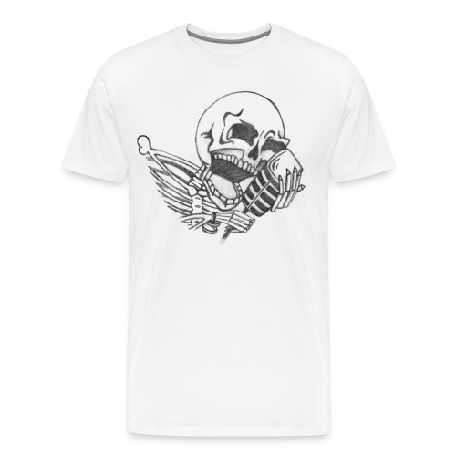 Singing Skull - Men's Premium T-Shirt