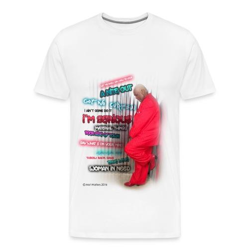 Mel Waiters Album/Graffiti Wall (White) - Men's Premium T-Shirt