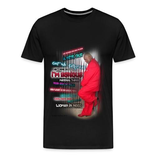 Mel Waiters Album/Graffiti Wall (Black) - Men's Premium T-Shirt