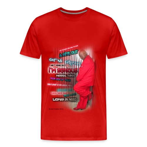 Mel Waiters Album/Graffiti Wall (Red) - Men's Premium T-Shirt