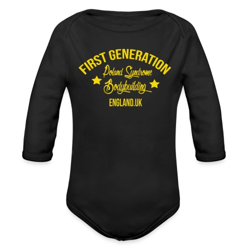 BABY FIRST GENERATION UK - Organic Long Sleeve Baby Bodysuit