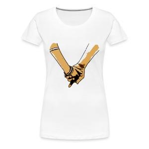 V for Love (Hand in Hand) - Women's Premium T-Shirt