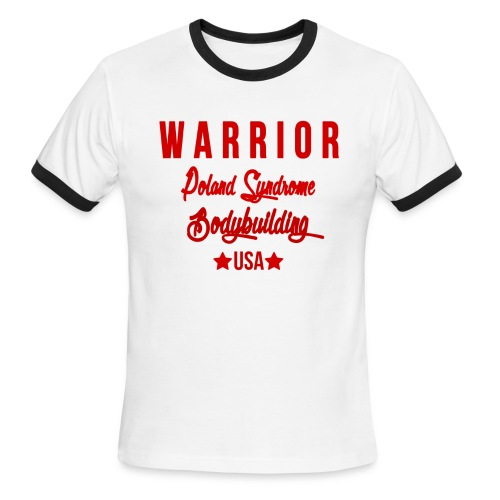WARRIOR RINGER RED - Men's Ringer T-Shirt