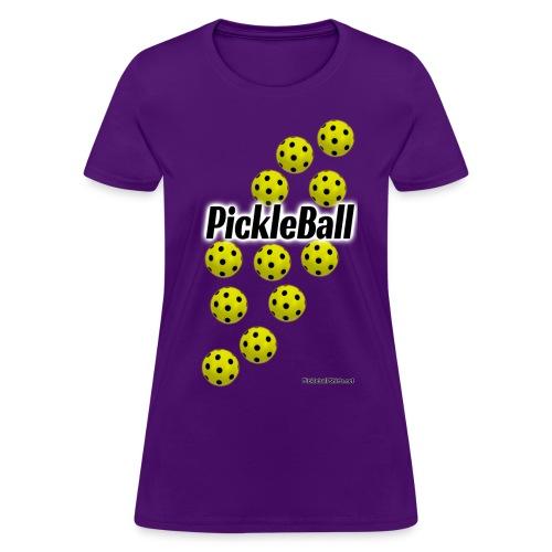 Pickleball Tee Shirt Falling Pickleballs - Women's T-Shirt