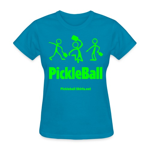 Pickleball Friends 1 Color Print On Front & Arm - Women's T-Shirt