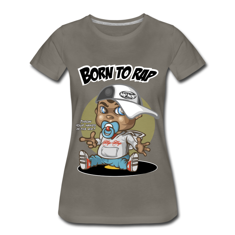 Born To Rap - Women's Premium T-Shirt