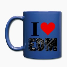 I Love EDM Mugs & Drinkware