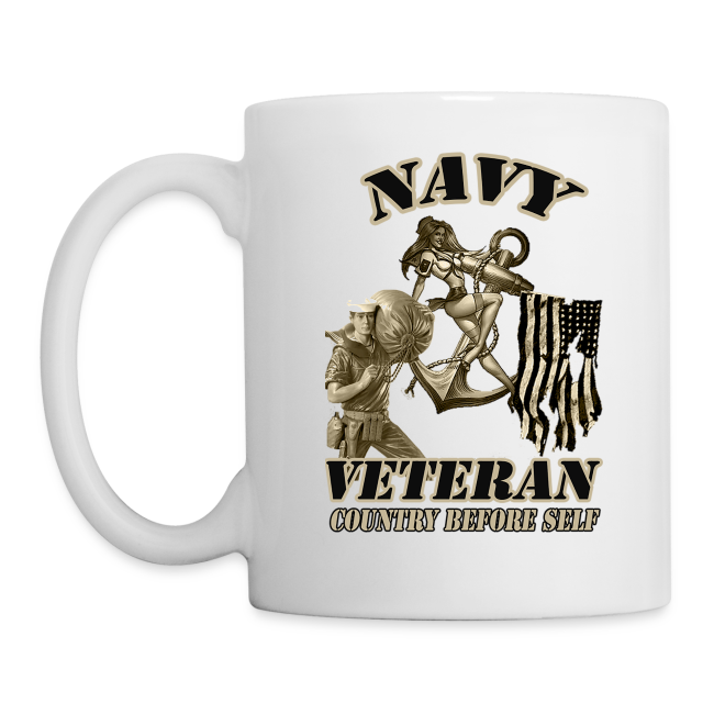 U S Navy Coffee Mug Country Before Self 13 50