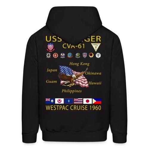 USS RANGER CVA-61 WESTPAC CRUISE 1960 HOODIE - Men's Hoodie