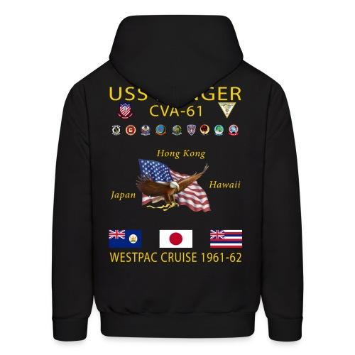USS RANGER CVA-61 WESTPAC CRUISE 1961-62 HOODIE - Men's Hoodie