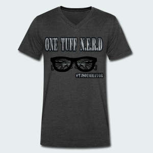 One Tuff Nerd - Men's V-Neck T-Shirt by Canvas