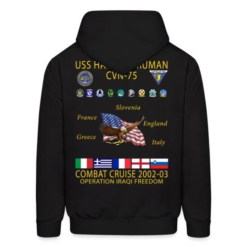 USS HARRY S TRUMAN 2002-03 COMBAT CRUISE HOODIE - Men's Hoodie