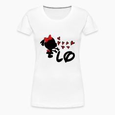 LO  cute heart Women's Premium T-Shirt