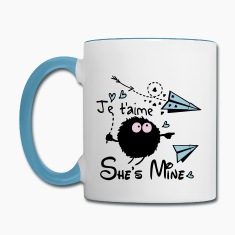 She's mine couple Contrast Coffee Mug