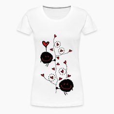 Hearts tree couple Women's Premium T-Shirt