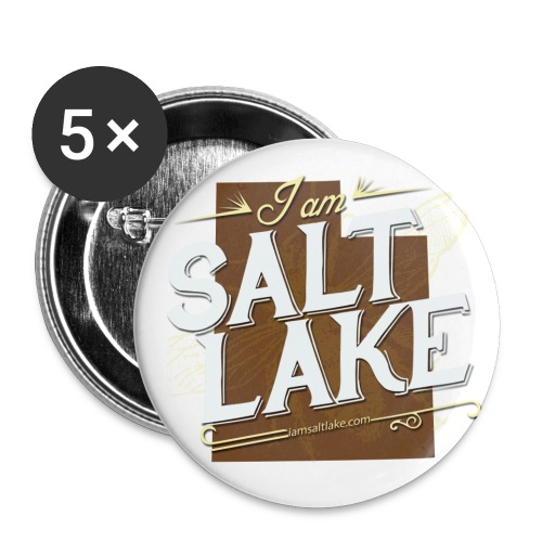 I am Salt Lake buttons (5 pack) - Small Buttons