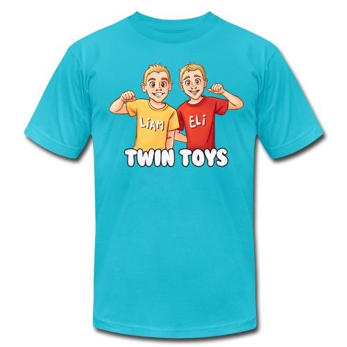 Twin Toys - Men's T-Shirt by American Apparel - Men's Fine Jersey T-Shirt