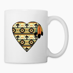 Native American Heart Mugs & Drinkware