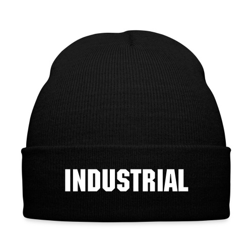 INDUSTRIAL - Knit Cap with Cuff Print