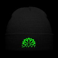 Caps ~ Knit Cap with Cuff Print ~ Savvy winter beanie