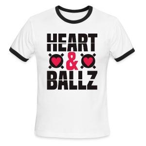 Heart & Ballz (Ringer Tee) - Men's Ringer T-Shirt