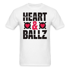 Heart & Ballz (White Tee) - Men's T-Shirt