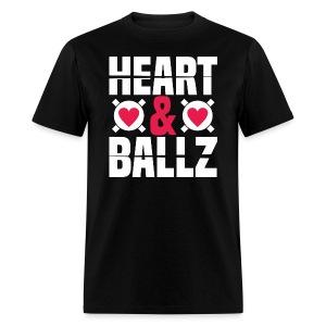 Heart & Ballz (Black Tee) - Men's T-Shirt