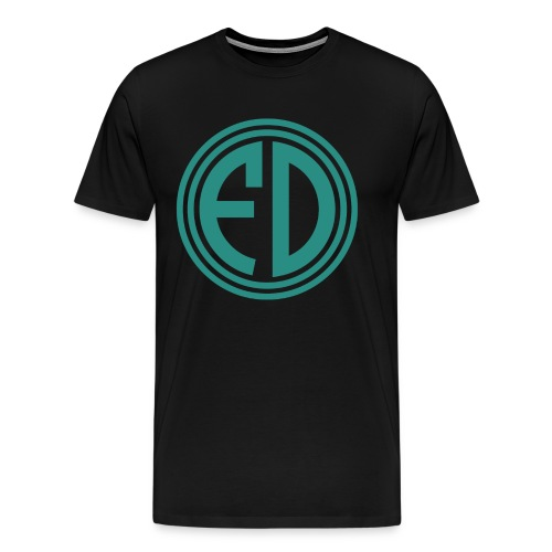 FD Green Circle Black Tee - Men's Premium T-Shirt
