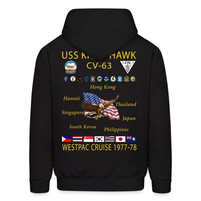 USS KITTY HAWK CV-63 WESTPAC CRUISE 1977-78 HOODIE