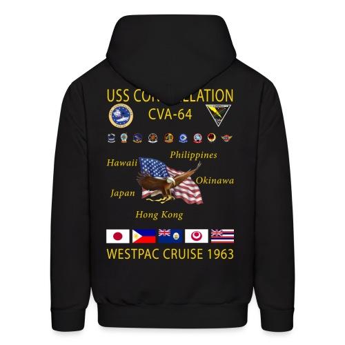 USS CONSTELLATION CVA-64 WESTPAC 1963 HOODIE - Men's Hoodie