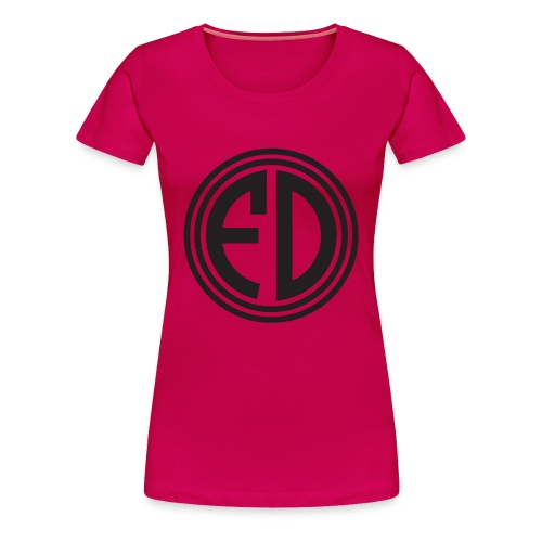 FD Black Circle Dark Pink Women's Tee - Women's Premium T-Shirt