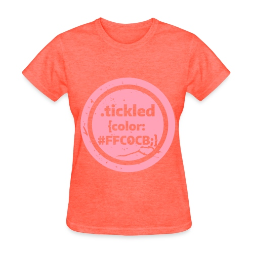 Tickled Pink (in Code) - Women's T-Shirt