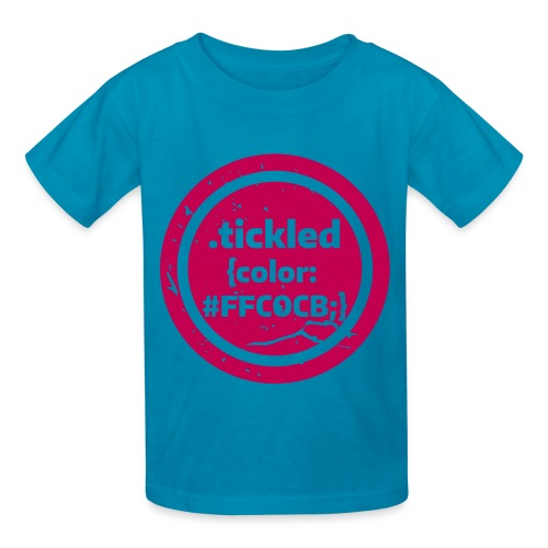 Tickled Pink (in Code) - Kids' T-Shirt