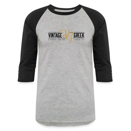 Grey Vintage Greek Baseball Tee - Baseball T-Shirt