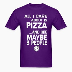 Care About Pizza And 3 People Girls