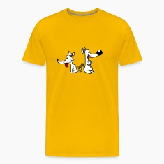 2 funny little sweet cute dogs couple team buddies T-Shirts