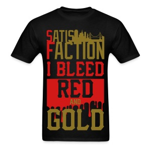 Bleed red and gold  - Men's T-Shirt