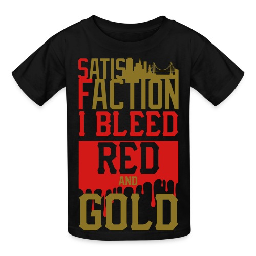 Bleed red and gold  - Kids' T-Shirt
