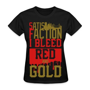 Bleed red and gold  - Women's T-Shirt
