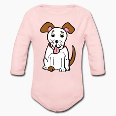 Cute Smiling Dog  Baby Bodysuits
