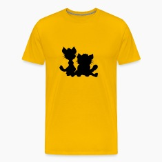 silhouette black outline silhouette sitting sweet  T-Shirts