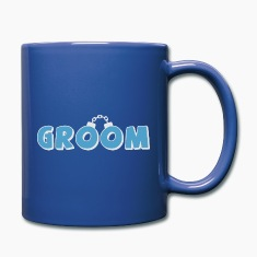 Funny groom text Mugs & Drinkware