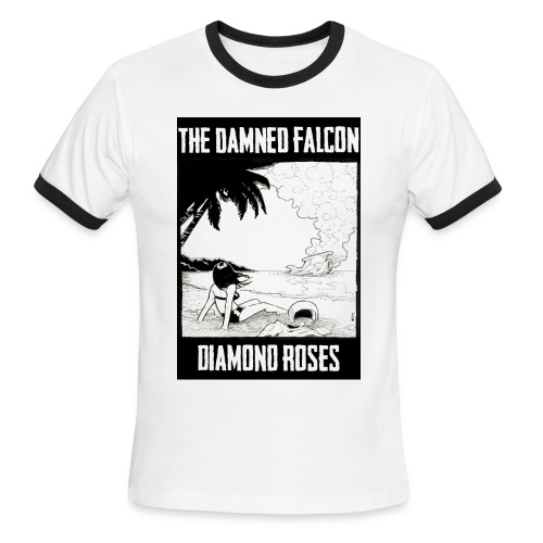 Wonder Years - Diamond Roses Retro T-Shirt - Men's Ringer T-Shirt