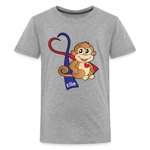 Ellie's Monkey Kid's Unisex T-Shirt (CUSTOMIZED) - Kids' Premium T-Shirt