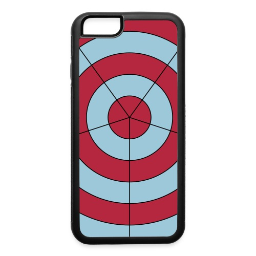 pinkblue target - iPhone 6/6s Rubber Case