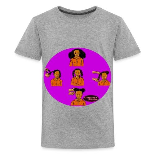 KIDS BRAIDED BUN TEE SHIRT - Kids' Premium T-Shirt